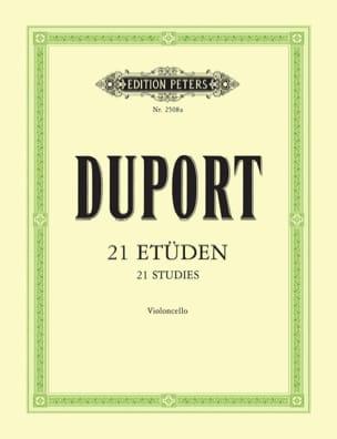 21 Etudes - Violoncelle Jean Louis Duport Partition laflutedepan