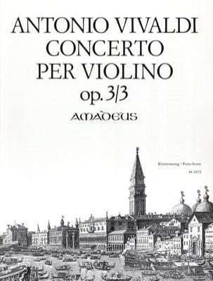 Concerto Per Violino Opus 3 N° 3 VIVALDI Partition laflutedepan