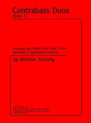 Contrabass Duo - Book 1 Bertram Turetzky Partition laflutedepan