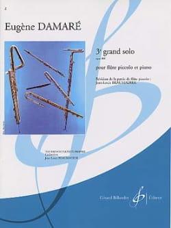 3ème Grand solo op. 410 Eugène Damaré Partition laflutedepan