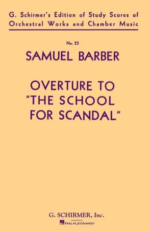 Samuel Barber - Inauguración de la Escuela de Escándalo Op 5 - Partition - di-arezzo.es