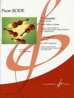 Concerto N° 7 En la Min. Pierre Rode Partition Violon - laflutedepan