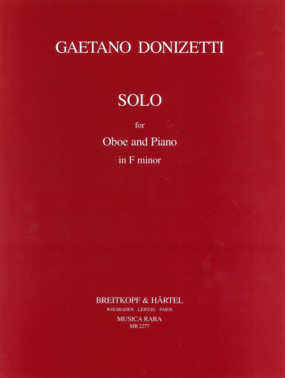 Solo in F minor for Oboe and piano - DONIZETTI - laflutedepan.com