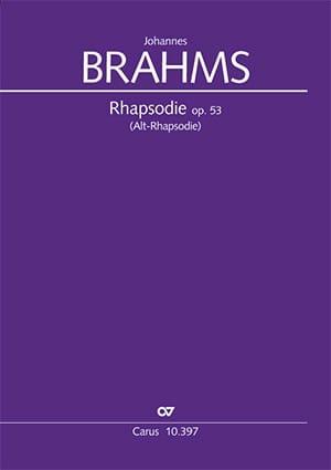 Rhapsodie pour Alto, op. 53 - BRAHMS - Partition - laflutedepan.com