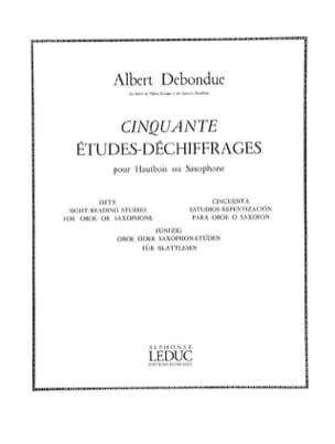 50 Etudes-déchiffrages Albert Debondue Partition laflutedepan
