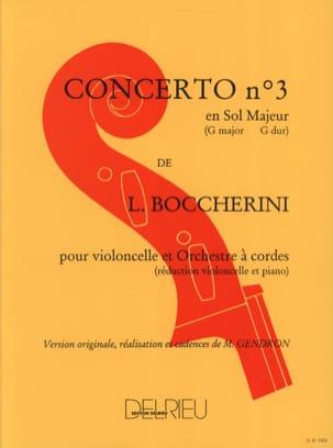 BOCCHERINI - Cello Concerto No. 3 G major G. 480 - Partition - di-arezzo.co.uk