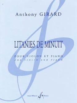 Litanies De Minuit Anthony Girard Partition Violon - laflutedepan