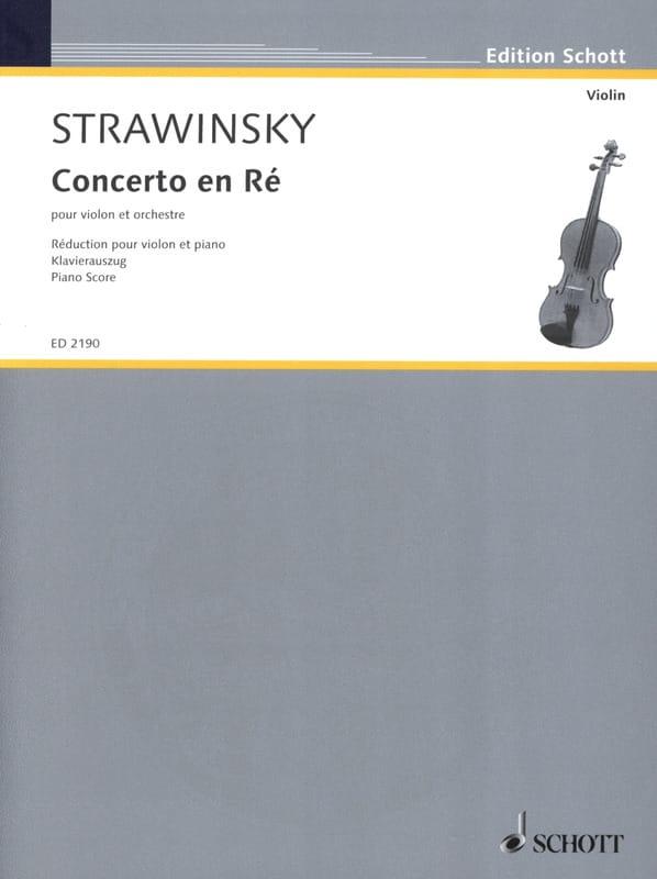 Concerto en ré pour violon - STRAVINSKY - Partition - laflutedepan.com