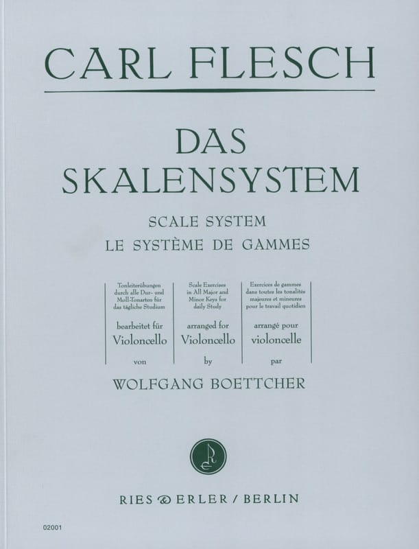 Le Système de Gammes - Violoncelle - Carl Flesch - laflutedepan.com
