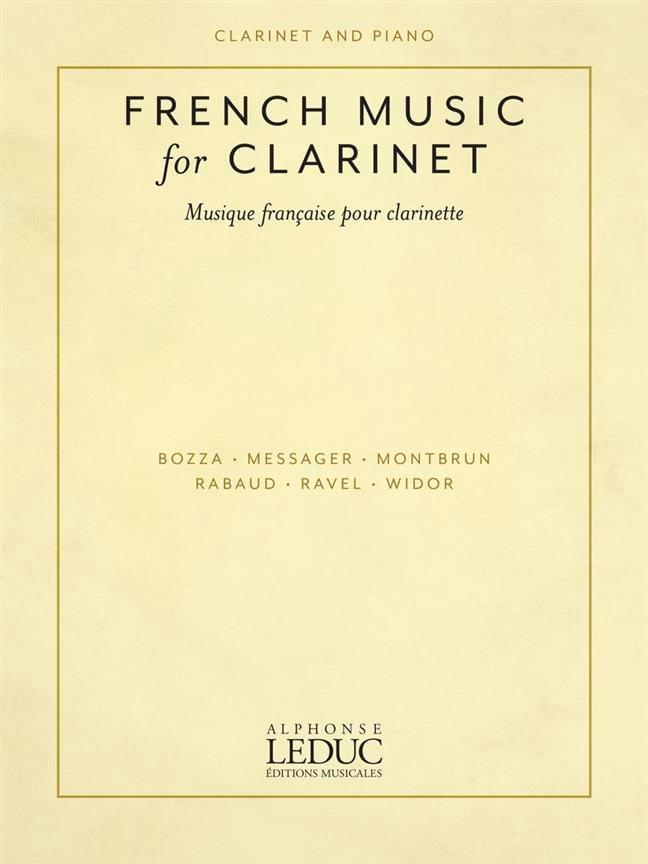 French Music for Clarinet - compositeurs Divers - laflutedepan.com