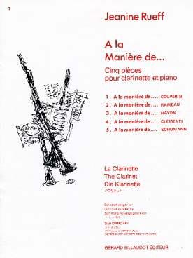 A la manière de ... Jeanine Rueff Partition Clarinette - laflutedepan