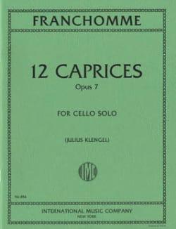 12 Caprices op. 7 Auguste Franchomme Partition laflutedepan
