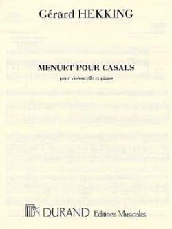 Menuet pour Casals Gérard Hekking Partition laflutedepan