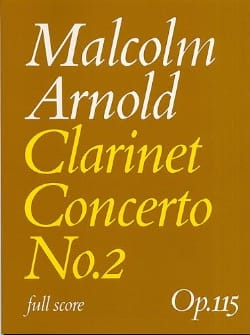 Malcolm Arnold - Concierto para clarinete núm. 2 op. 115 - Conductor - Partition - di-arezzo.es