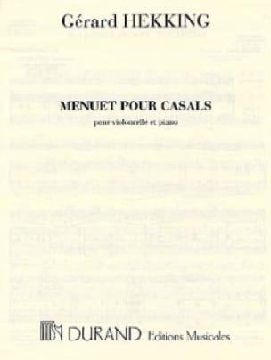 Menuet pour Casals - Gérard Hekking - Partition - laflutedepan.com