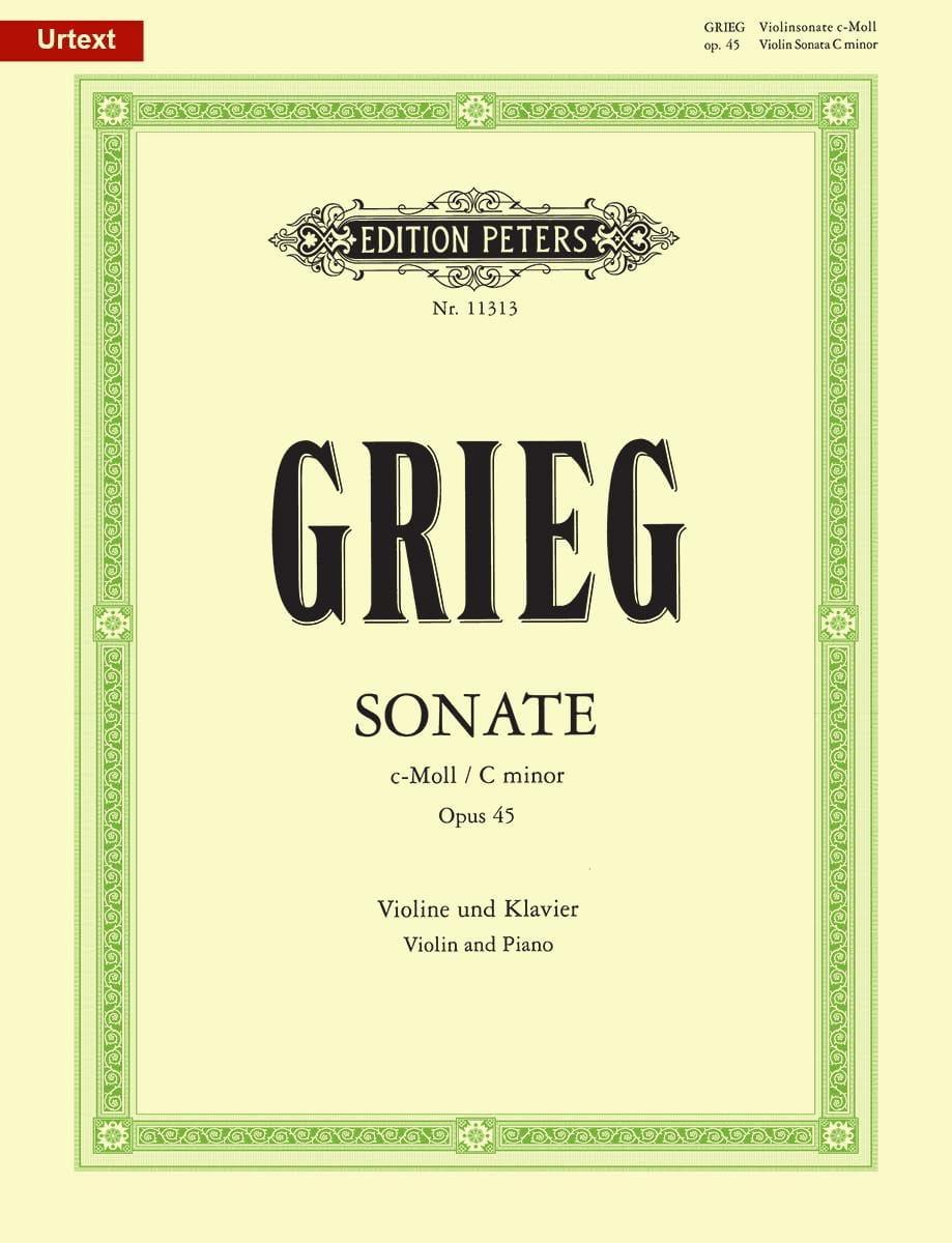 Sonate en Do Mineur Opus 45 - GRIEG - Partition - laflutedepan.com