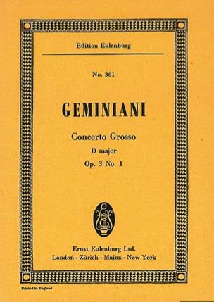 Concerto grosso D-Dur Francesco S Geminiani Partition laflutedepan