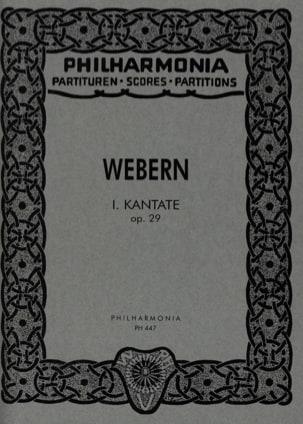Kantate Nr. 1 op. 29 - Partitur - WEBERN - laflutedepan.com