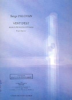 Vent d'est Serge Paloyan Partition Flûte traversière - laflutedepan