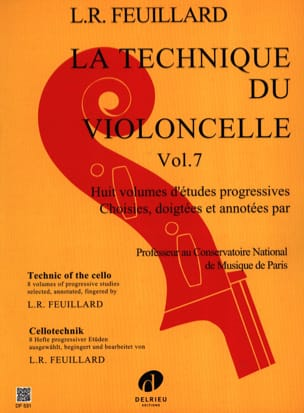 Technique du Violoncelle Volume 7 FEUILLARD Partition laflutedepan