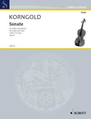 Sonate G-Dur, op. 6 KORNGOLD Partition Violon - laflutedepan