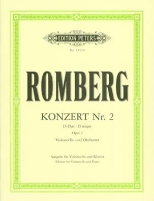 Concerto N° 2 en Ré Majeur Op. 3 ROMBERG Partition laflutedepan