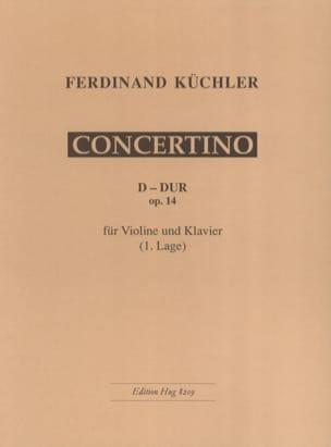 Concertino D-Dur op. 14 Ferdinand Küchler Partition laflutedepan