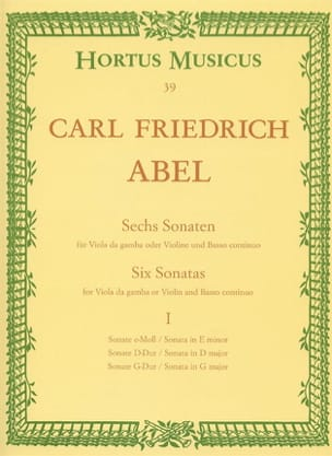 6 Sonates - cahier 1 - Viole da gamba o. Violine laflutedepan