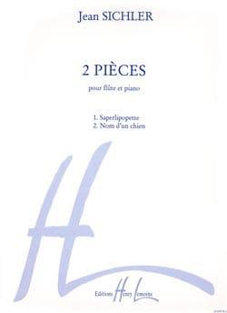 2 Pièces - Flûte piano Jean Sichler Partition laflutedepan