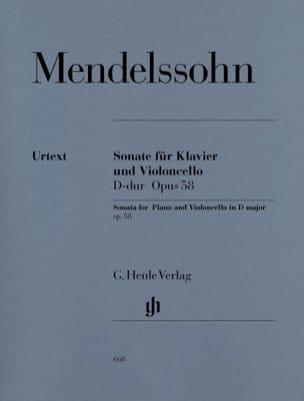 MENDELSSOHN - Cello Sonata en la mayor D op. 58 - Partition - di-arezzo.es