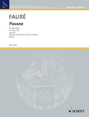 Pavane Op.50 - Trio Avec Piano FAURÉ Partition Trios - laflutedepan
