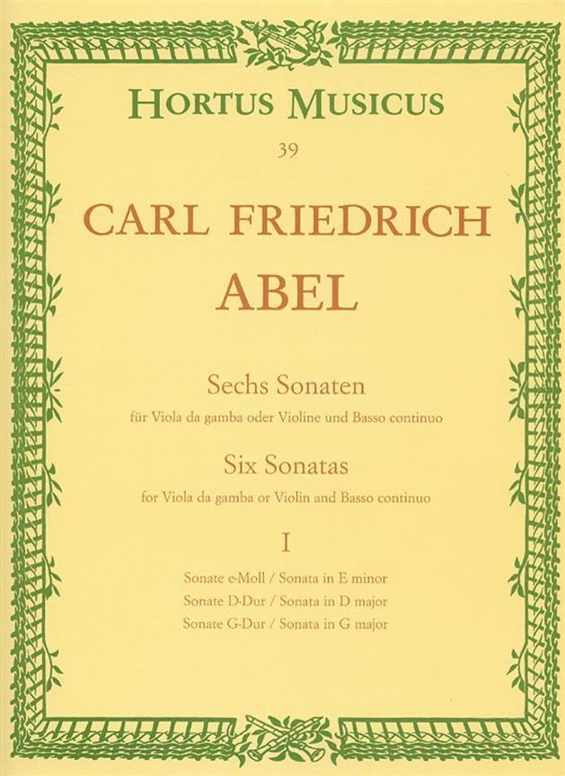 6 Sonates - cahier 1 - Viole da gamba o. Violine - laflutedepan.com
