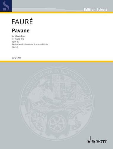 Pavane Op.50 - Trio Avec Piano - FAURÉ - Partition - laflutedepan.com