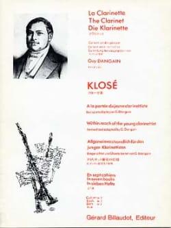 A la portée du jeune clarinettiste Vol. 5 Hyacinthe Klosé laflutedepan