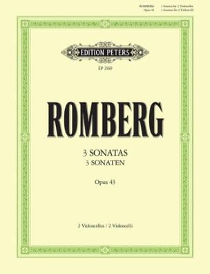 Sonaten op. 43 ROMBERG Partition Violoncelle - laflutedepan