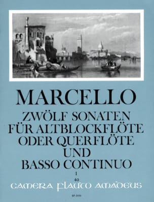 12 Sonaten Opus 2 Volume 1 Benedetto Marcello Partition laflutedepan