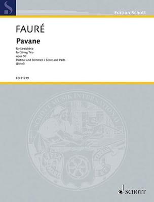 Pavane Opus 50 FAURÉ Partition Trios - laflutedepan