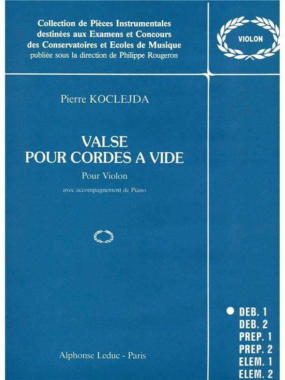 Valse pour cordes à vide - Pierre Koclejda - laflutedepan.com