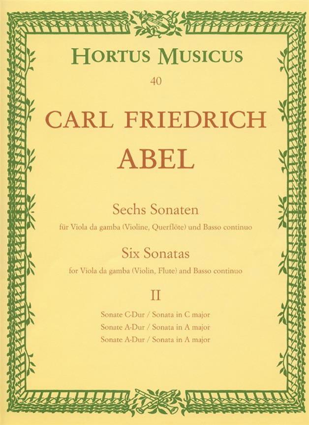 6 sonates - cahier 2 - Viola da gamba o. Violine, Querflöte - laflutedepan.com