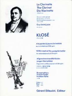 A la portée du jeune clarinettiste Vol. 6 Hyacinthe Klosé laflutedepan