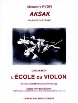 Aksak Alexandre Rydin Partition Violon - laflutedepan