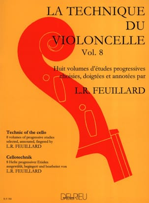 Technique du Violoncelle Volume 8 FEUILLARD Partition laflutedepan