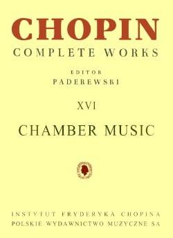 Complete Works Volume 16 - Chamber Music - CHOPIN - laflutedepan.com