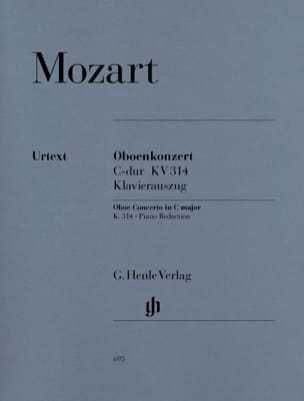 MOZART - Concerto for oboe in C major K. 314 - Partition - di-arezzo.com