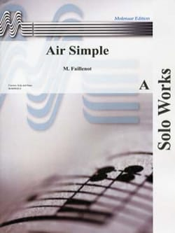 Air simple Maurice Faillenot Partition Clarinette - laflutedepan