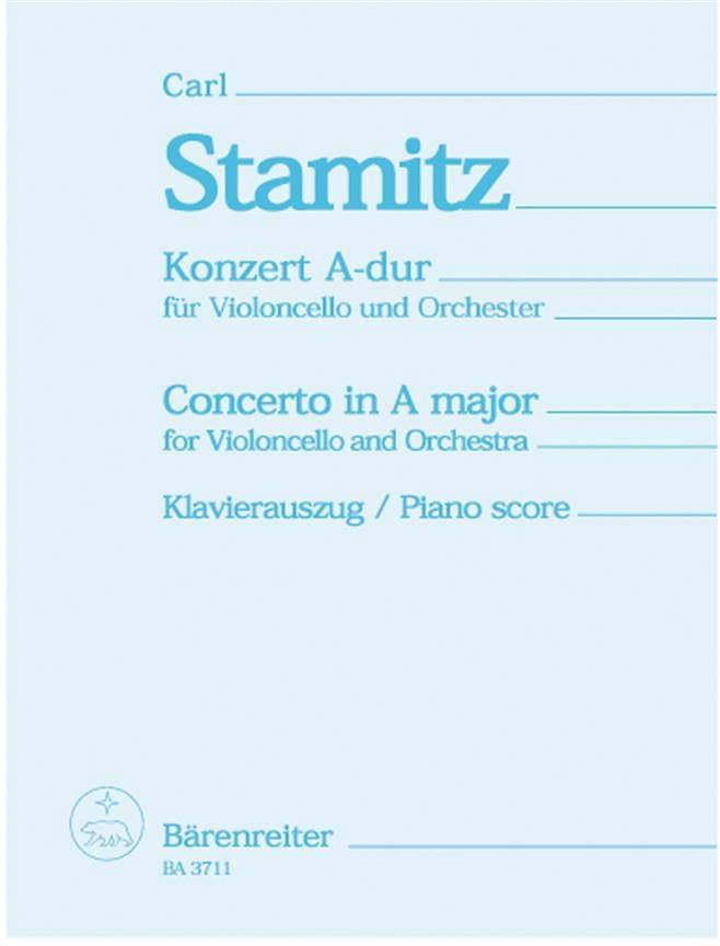 Concerto en la majeur - Violoncelle - STAMITZ - laflutedepan.com