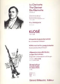 A la portée du jeune clarinettiste Vol. 7 Hyacinthe Klosé laflutedepan