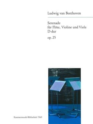 Serenade op. 25 D-Dur -Flöte Violine Viola - Stimmen laflutedepan