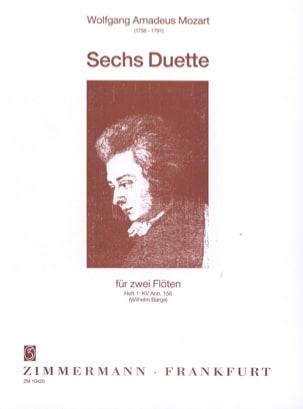 6 Duette - Heft 1 : KV Anh. 156 - 2 Flöten MOZART laflutedepan