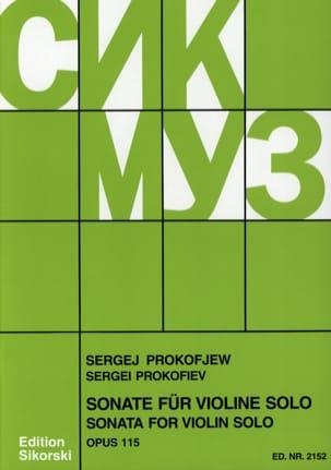 Sonate op. 115 für Violine solo PROKOFIEV Partition laflutedepan